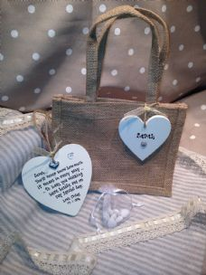 Shabby Personalised Chic Bridesmaid Special Wedding Gift Set